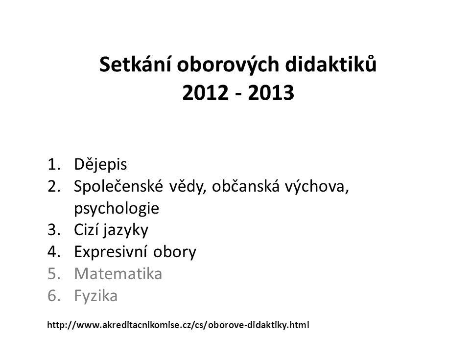 Setkání oborových didaktiků 2012 - 2013