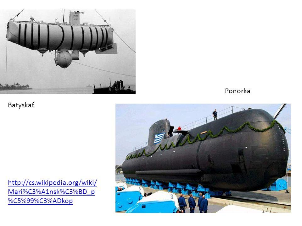 Ponorka Batyskaf http://cs.wikipedia.org/wiki/Mari%C3%A1nsk%C3%BD_p%C5%99%C3%ADkop