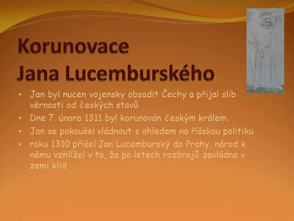 Korunovace Jana Lucemburského