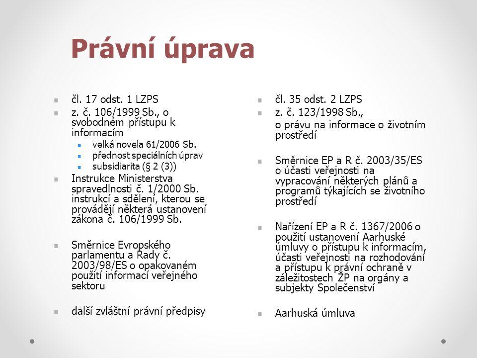Právní úprava čl. 17 odst. 1 LZPS