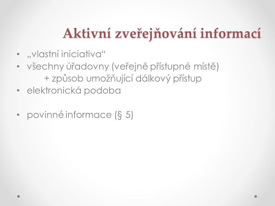 Aktivní zveřejňování informací