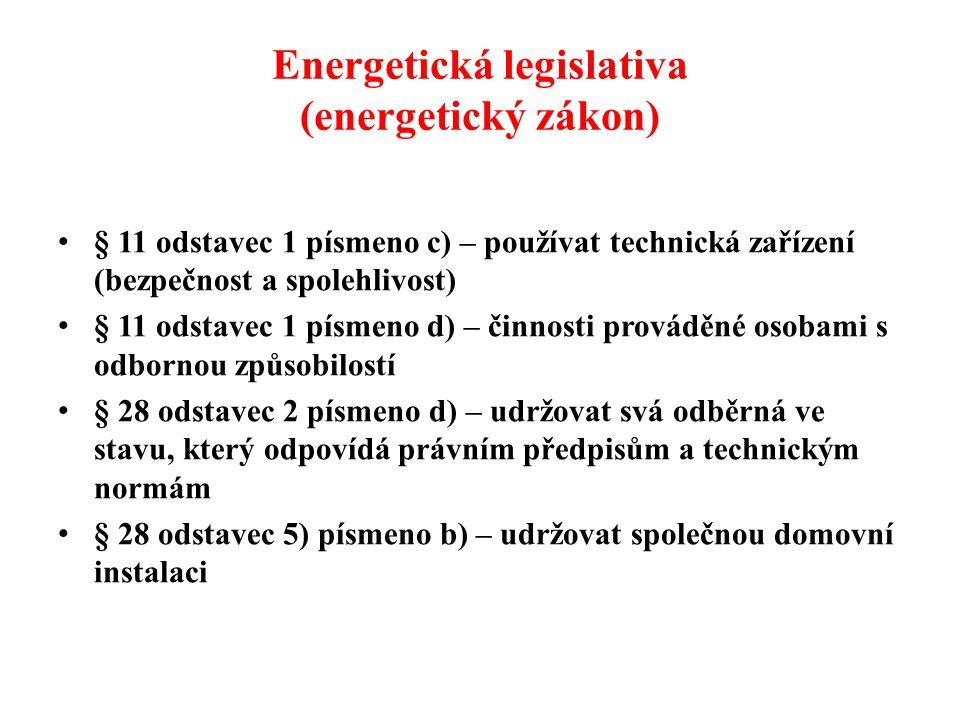 Energetická legislativa (energetický zákon)