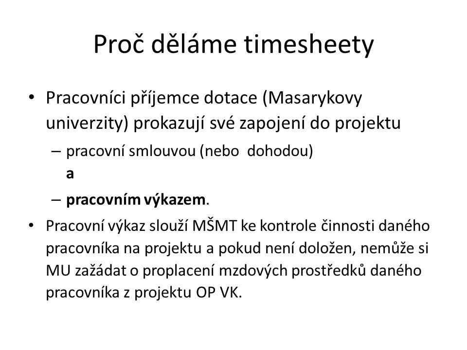 Proč děláme timesheety