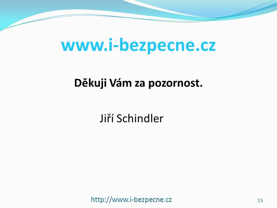 Děkuji Vám za pozornost. Jiří Schindler