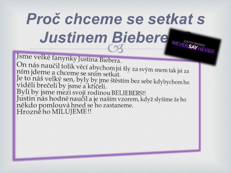 Proč chceme se setkat s Justinem Bieberem