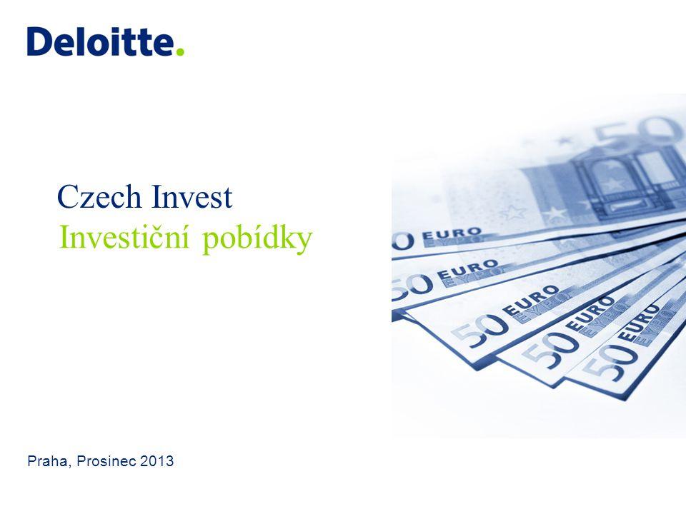 Czech Invest Investiční pobídky Praha, Prosinec 2013