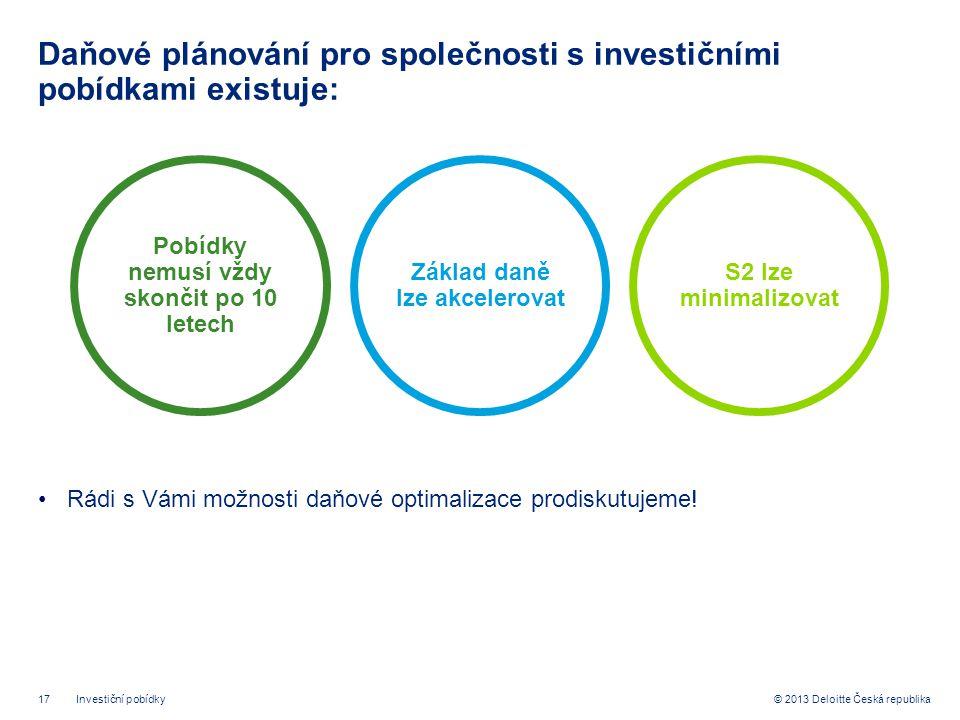Daňové plánování pro společnosti s investičními pobídkami existuje: