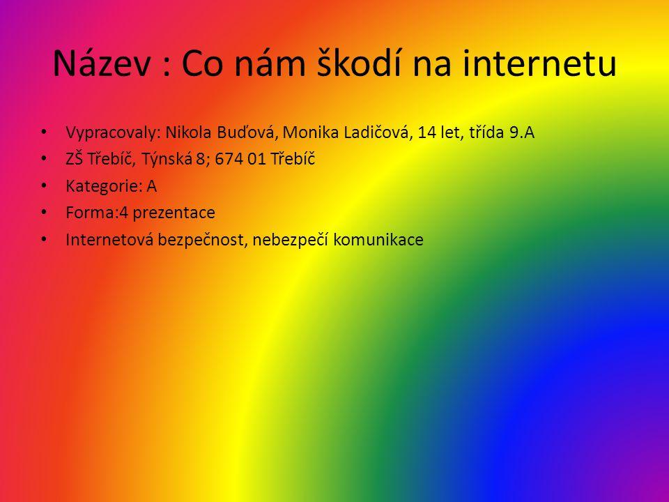 Název : Co nám škodí na internetu