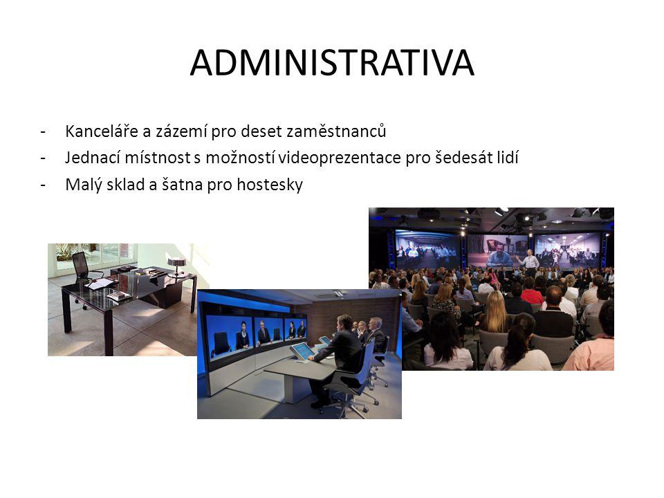 ADMINISTRATIVA Kanceláře a zázemí pro deset zaměstnanců