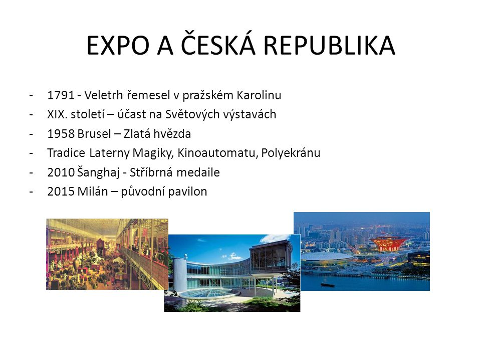 EXPO A ČESKÁ REPUBLIKA 1791 - Veletrh řemesel v pražském Karolinu