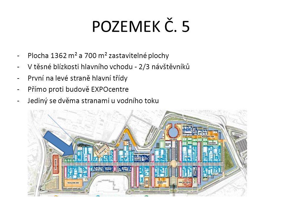 POZEMEK Č. 5 Plocha 1362 m² a 700 m² zastavitelné plochy