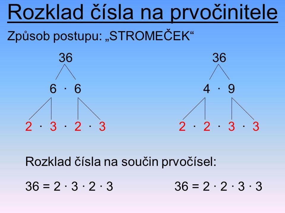 Rozklad čísla na prvočinitele