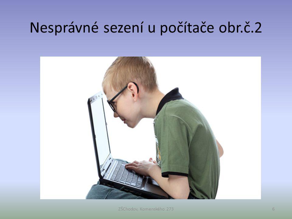 Nesprávné sezení u počítače obr.č.2