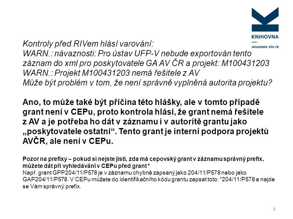 Kontroly před RIVem hlásí varování: