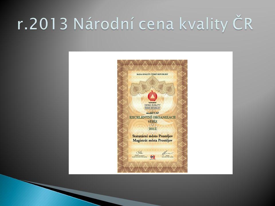 r.2013 Národní cena kvality ČR