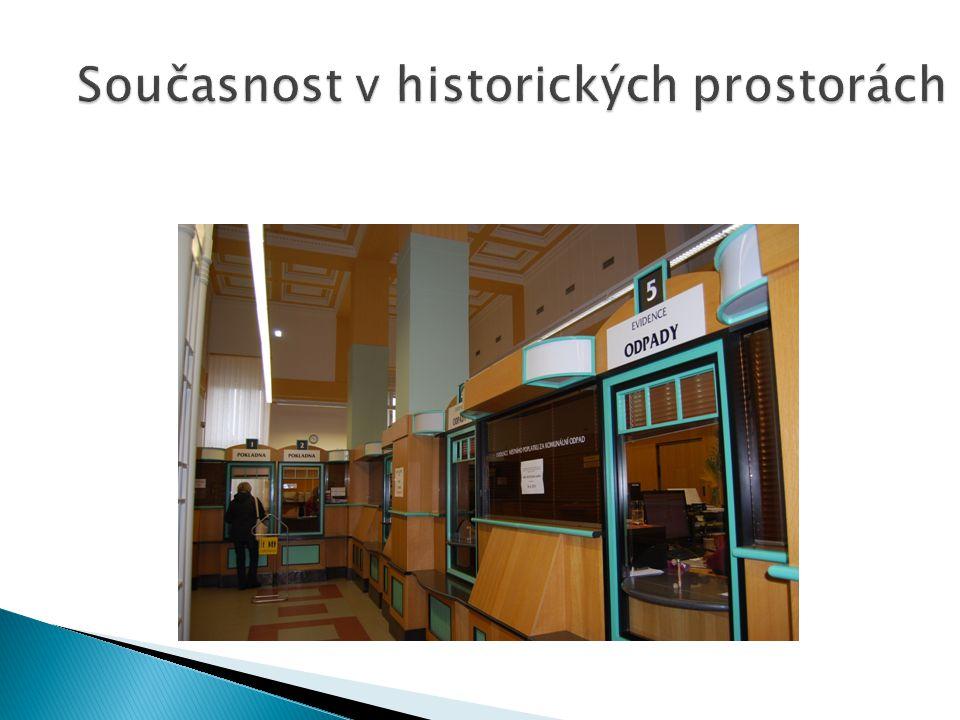Současnost v historických prostorách