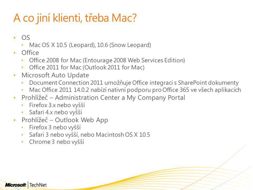 A co jiní klienti, třeba Mac