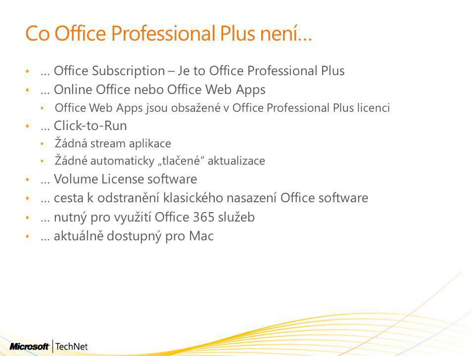 Co Office Professional Plus není…