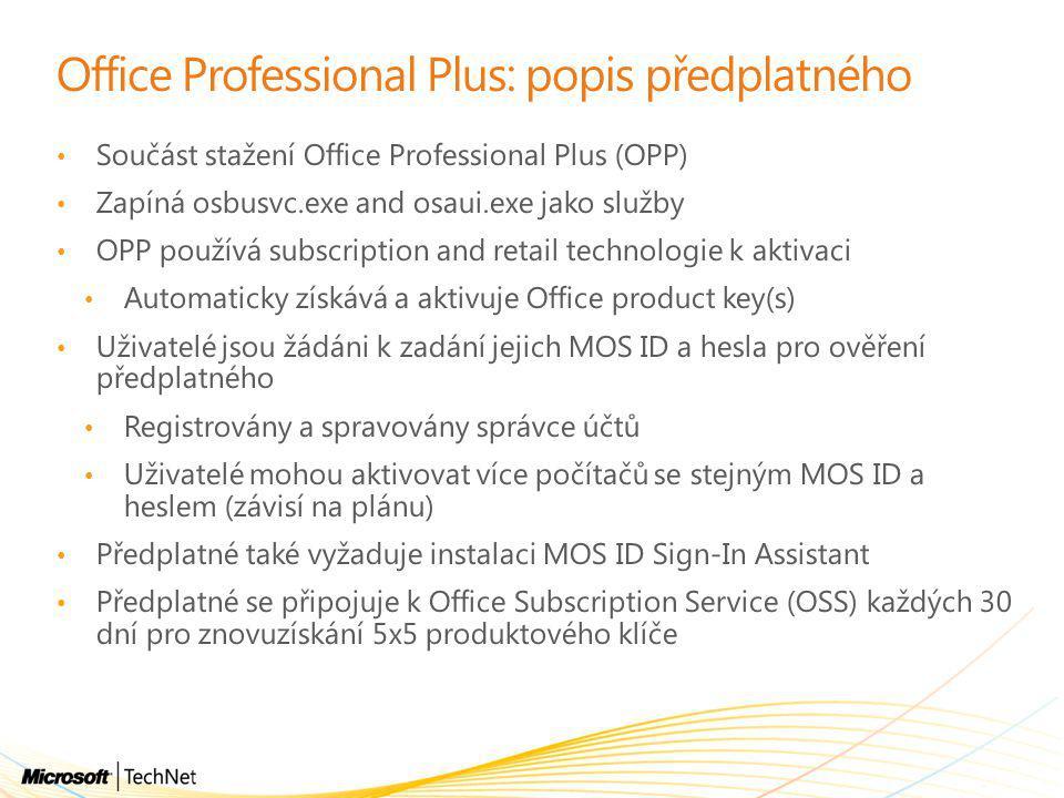 Office Professional Plus: popis předplatného