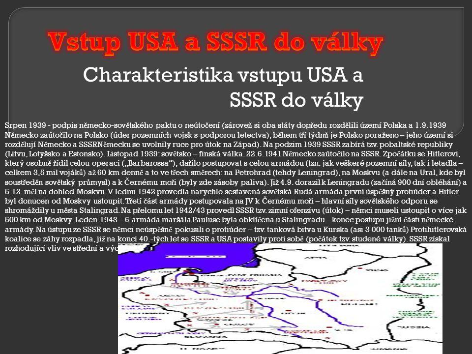 Charakteristika vstupu USA a SSSR do války
