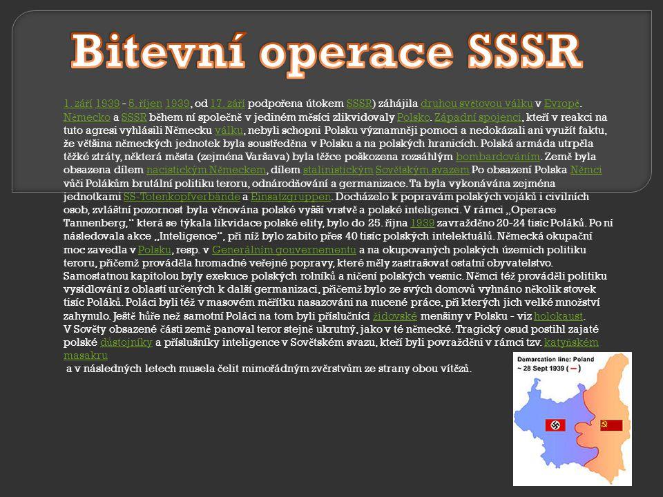 Bitevní operace SSSR