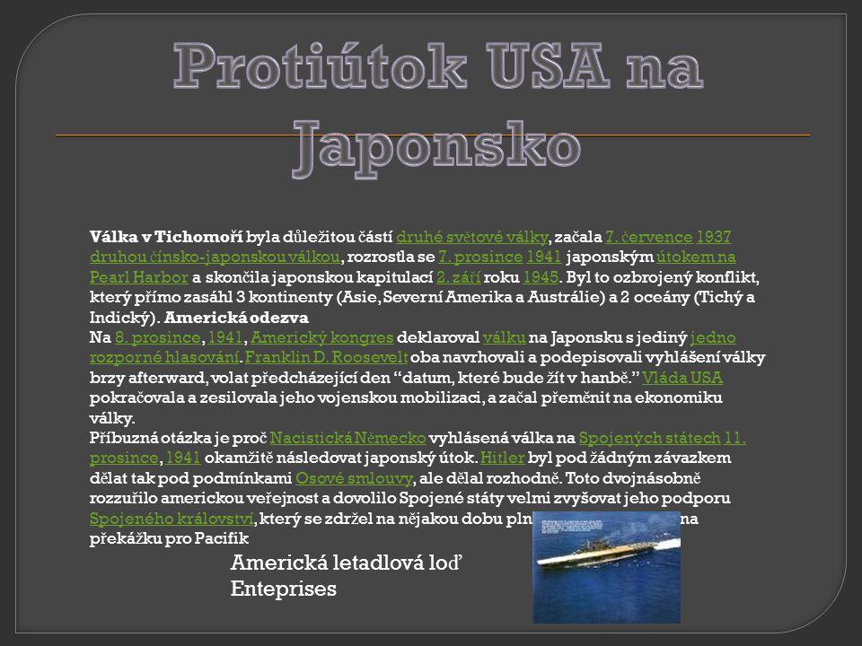 Protiútok USA na Japonsko