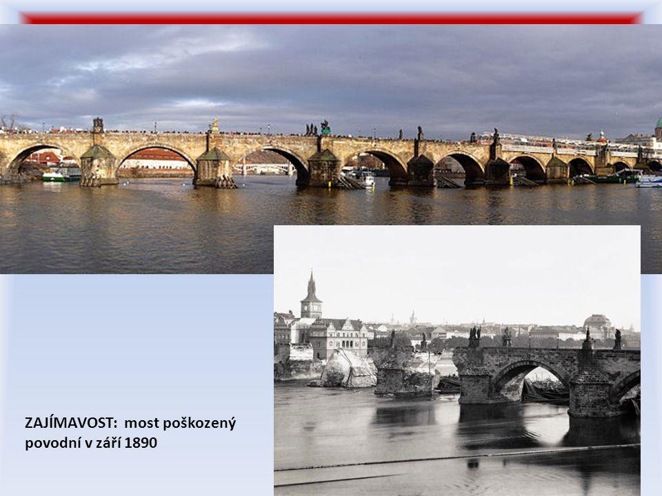 ZAJÍMAVOST: most poškozený povodní v září 1890
