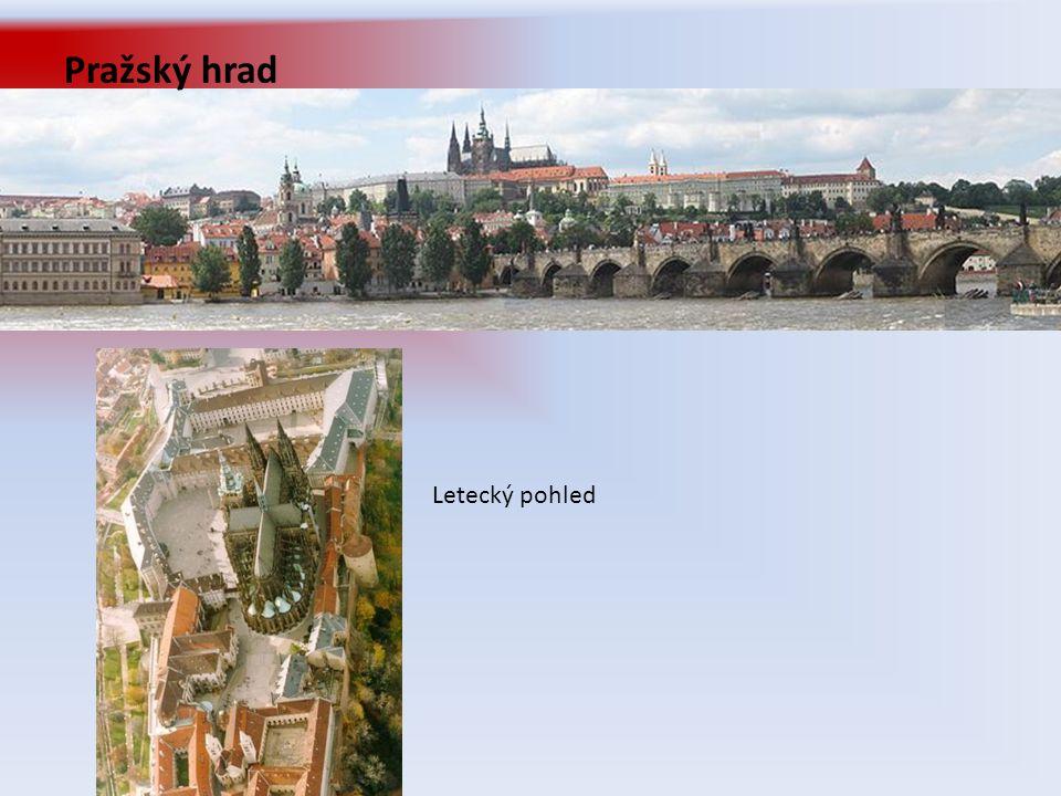 Pražský hrad Letecký pohled