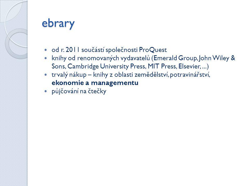 ebrary od r. 2011 součástí společnosti ProQuest