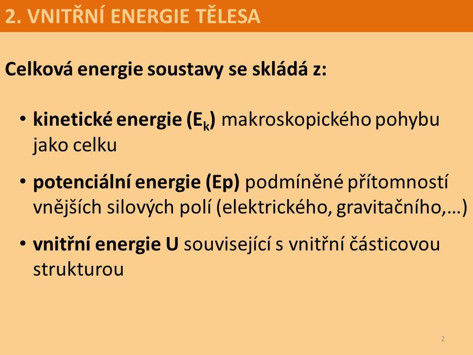 2. VNITŘNÍ ENERGIE TĚLESA