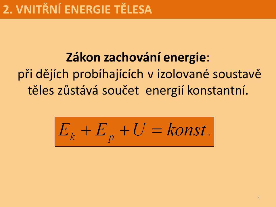 Zákon zachování energie:
