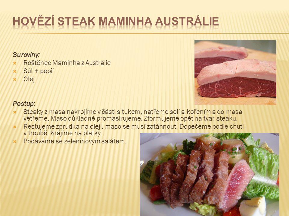 Hovězí steak Maminha Austrálie