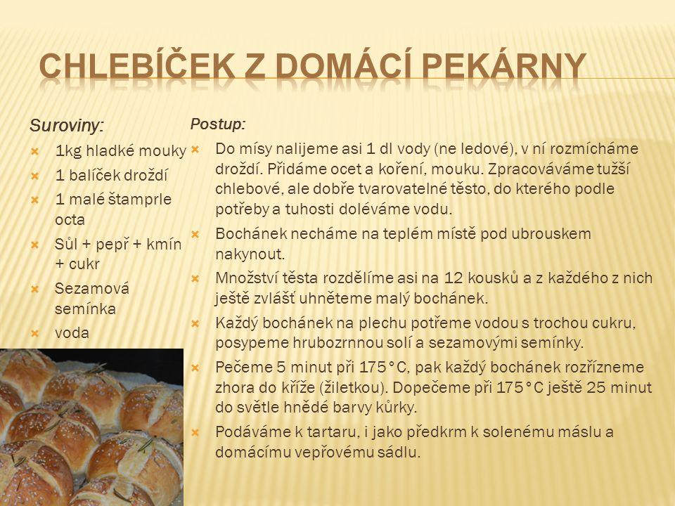chlebíček z domácí pekárny