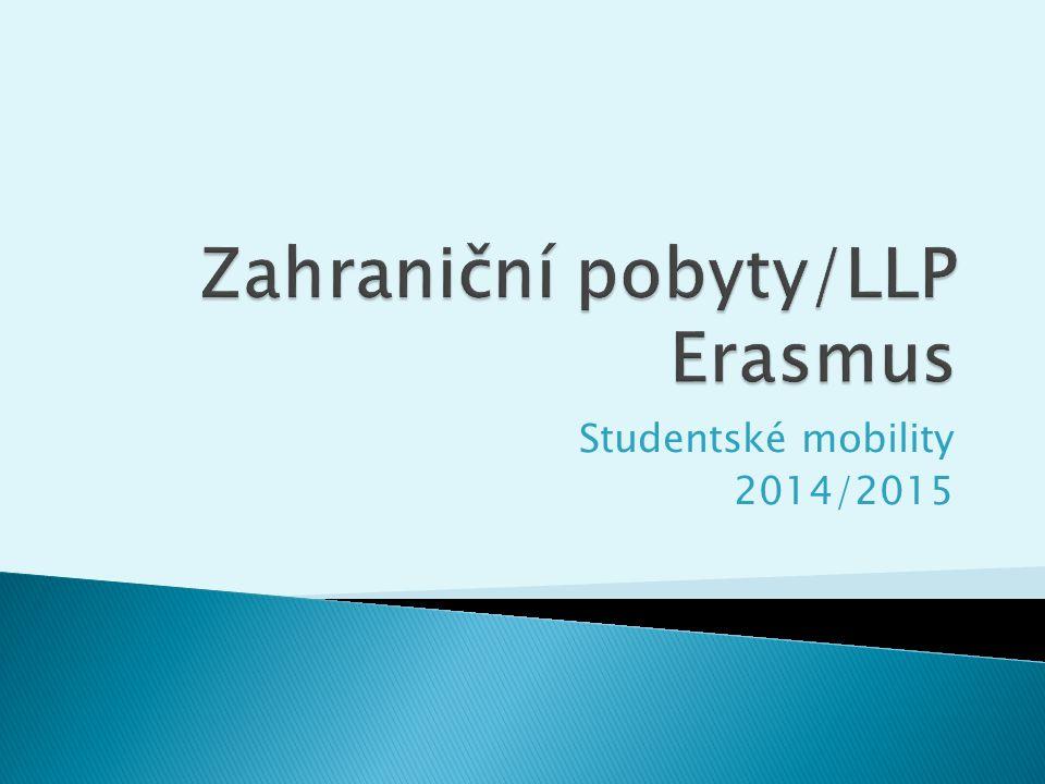 Zahraniční pobyty/LLP Erasmus