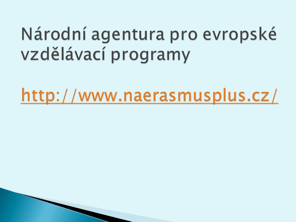 Národní agentura pro evropské vzdělávací programy http://www