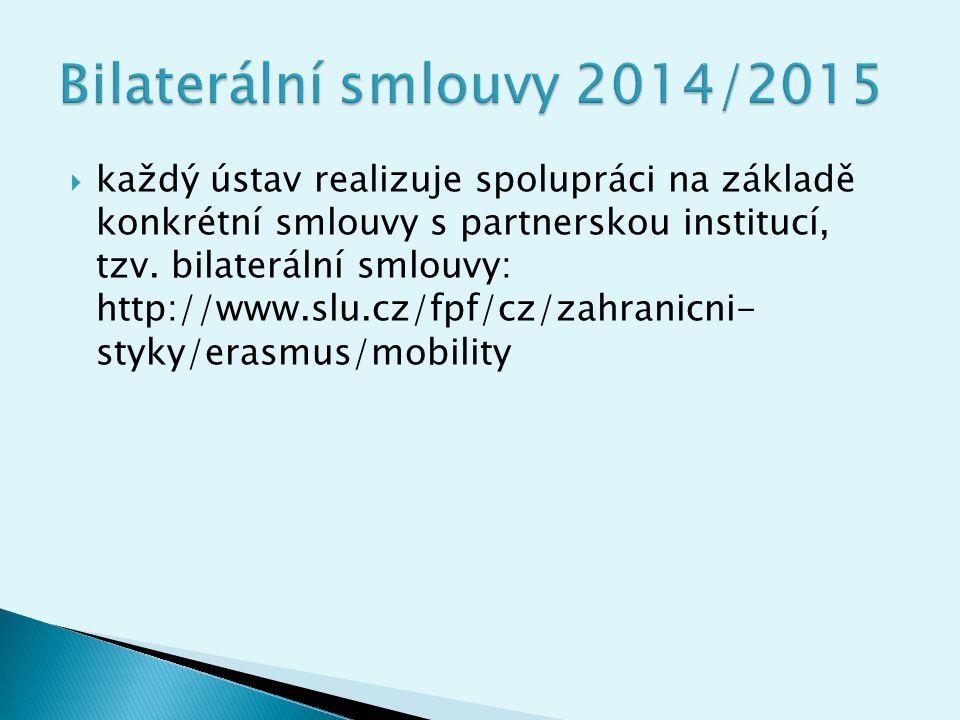 Bilaterální smlouvy 2014/2015
