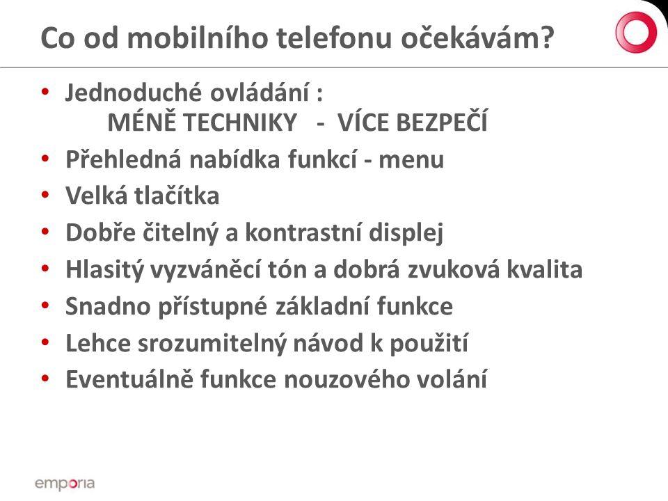 Co od mobilního telefonu očekávám