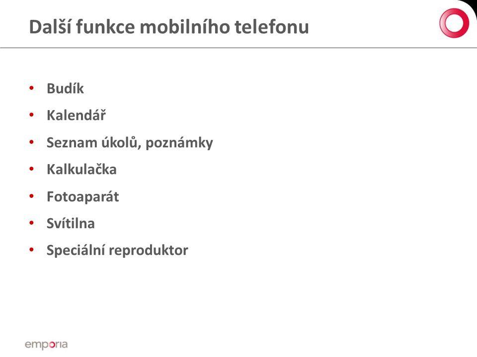 Další funkce mobilního telefonu
