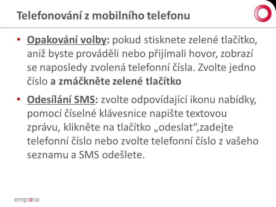 Telefonování z mobilního telefonu