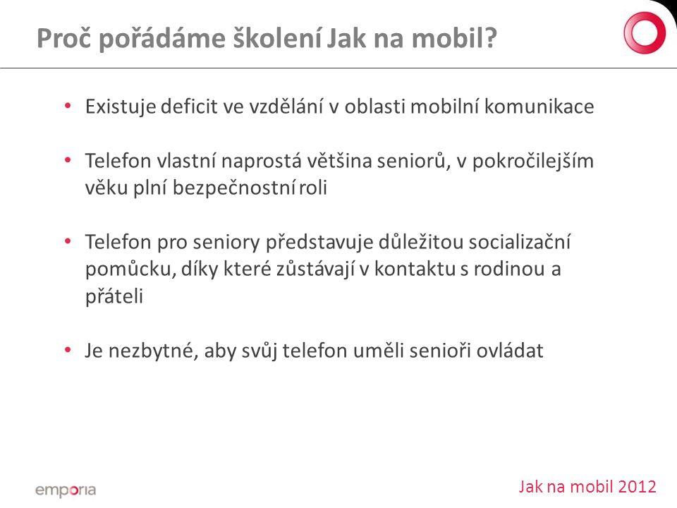 Proč pořádáme školení Jak na mobil