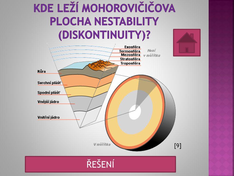 Kde leží mohorovičičova plocha nestability (diskontinuity)