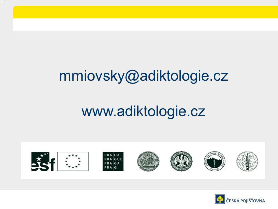 mmiovsky@adiktologie.cz www.adiktologie.cz
