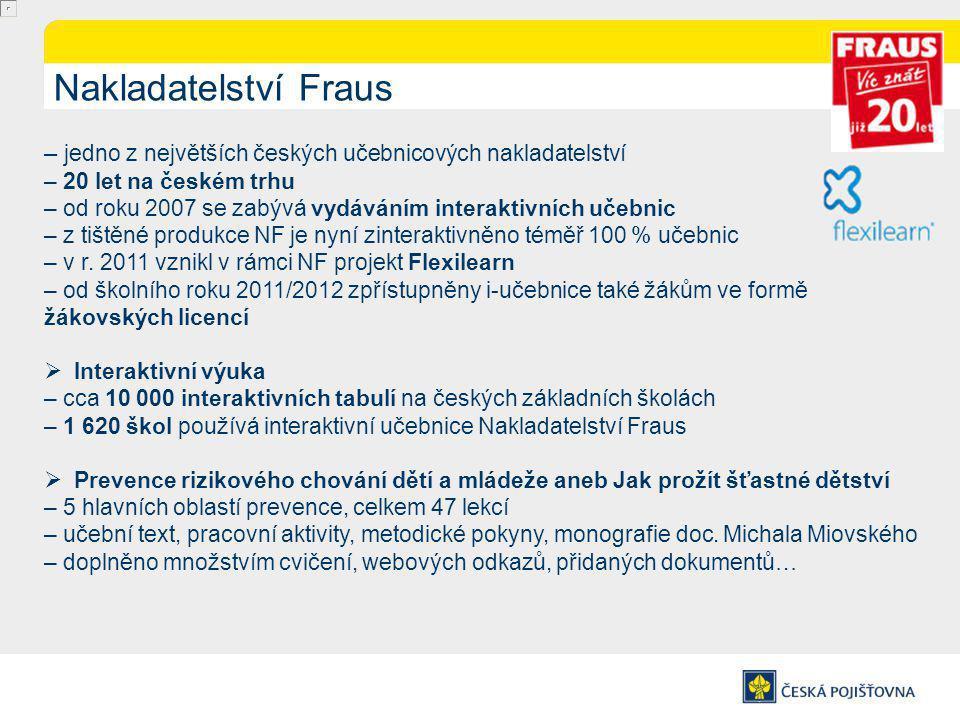 Nakladatelství Fraus – jedno z největších českých učebnicových nakladatelství. – 20 let na českém trhu.