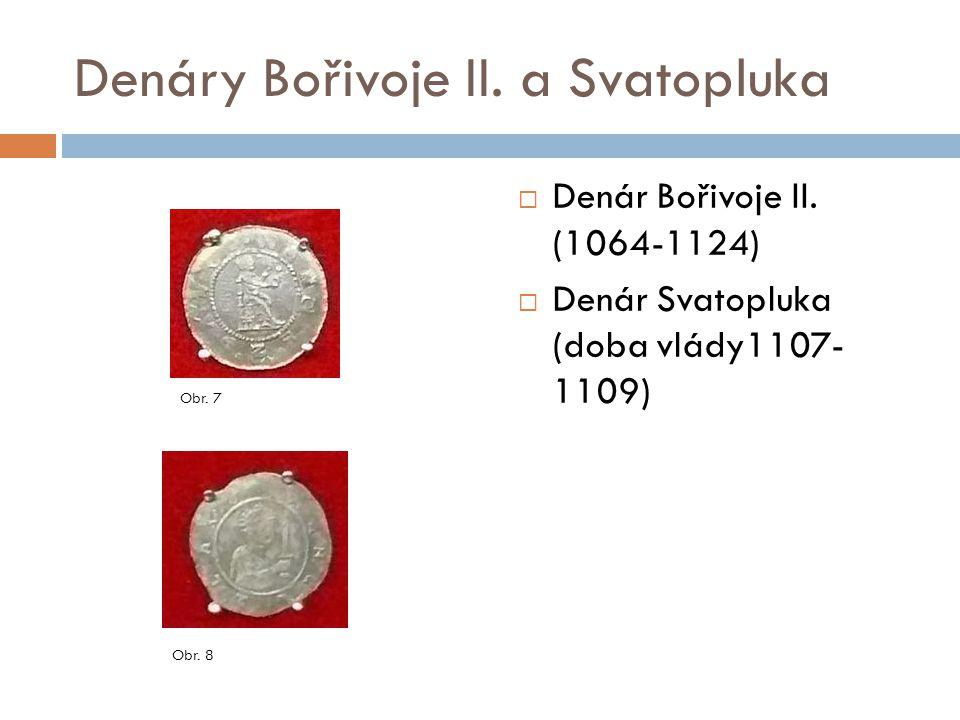 Denáry Bořivoje II. a Svatopluka