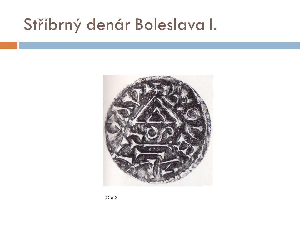 Stříbrný denár Boleslava I.