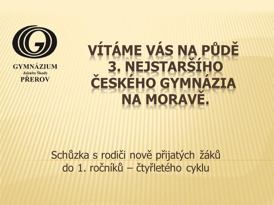 Vítáme Vás na půdě 3. nejstaršího českého gymnázia na Moravě.