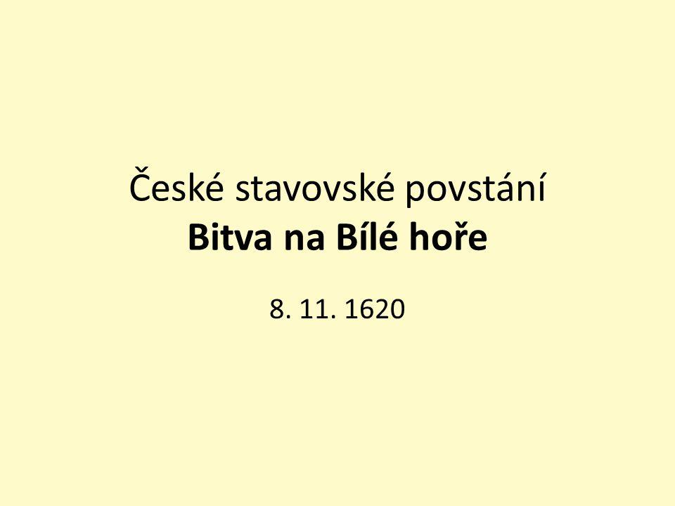 České stavovské povstání Bitva na Bílé hoře