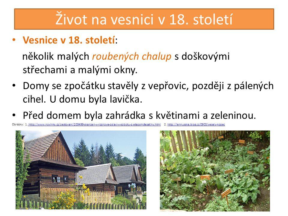 Život na vesnici v 18. století