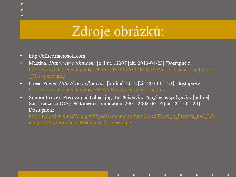Zdroje obrázků: http://office.microsoft.com