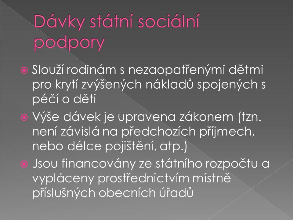 Dávky státní sociální podpory